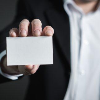 Man met business card